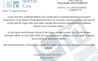 CMC's acquisition of A.J. Apps & Associates