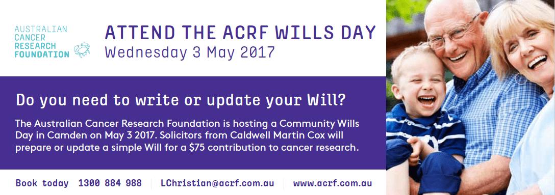 Wills Day 2017