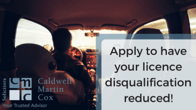 Apply to have your licence disqualification period reduced