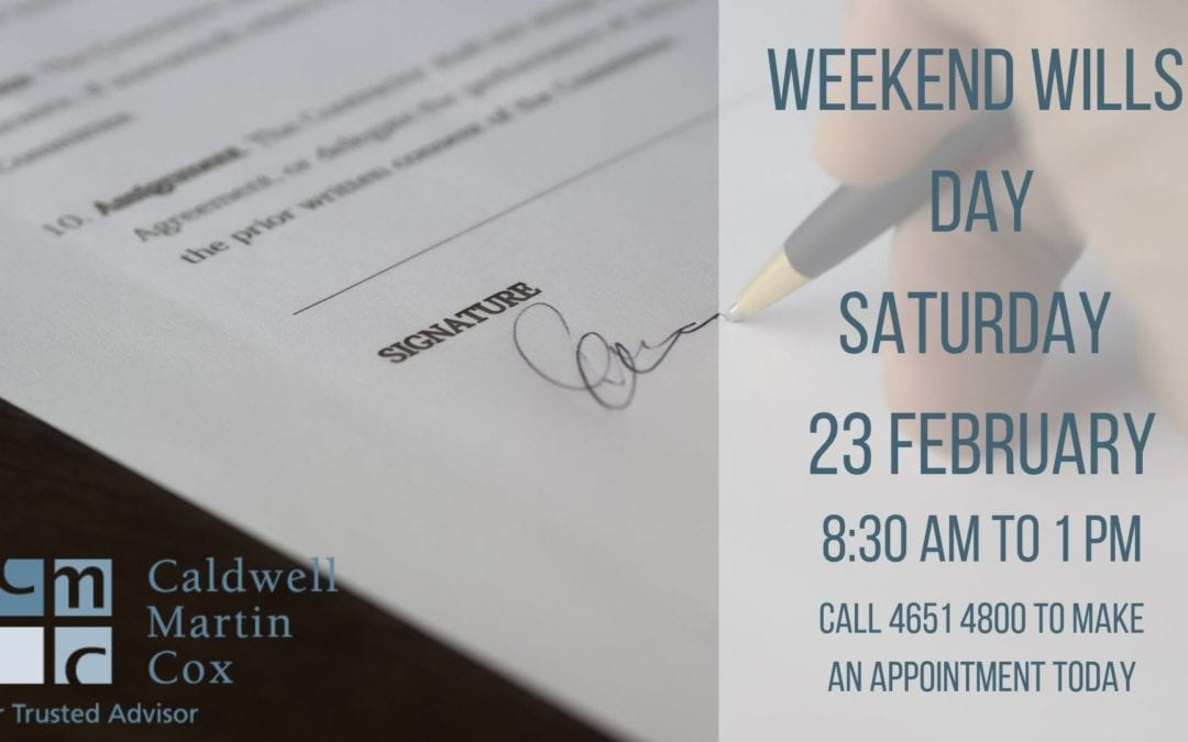 Weekend Wills Day 23 February