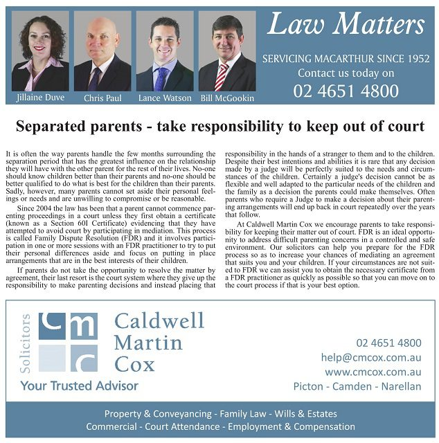 Separated Parents – Take Responsibility to Keep out of Court