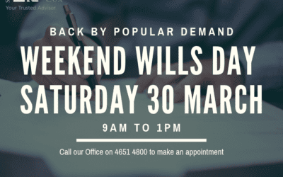 Weekend Wills Back By Popular Demand!