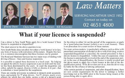 Licence Suspended?  How do I Get to Work?