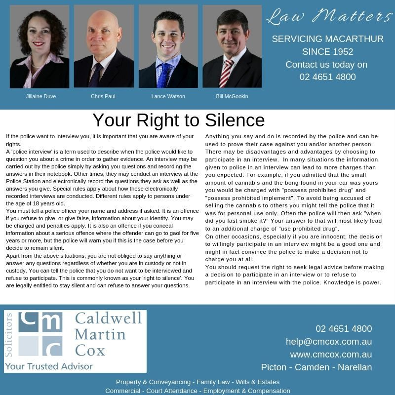 Your Right to Silence