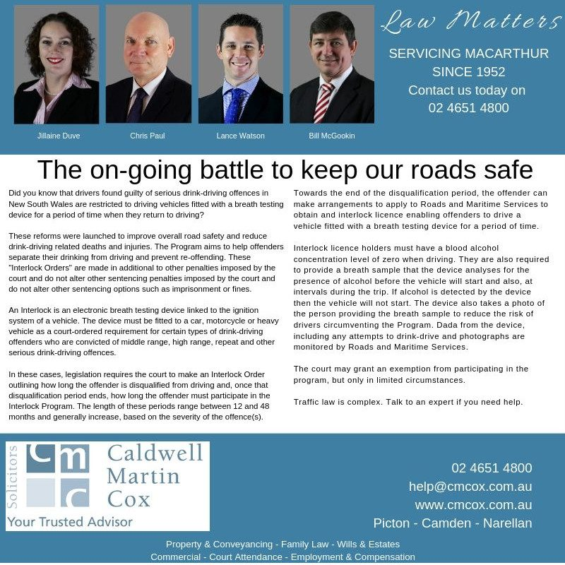 The on-going battle to keep our roads safe