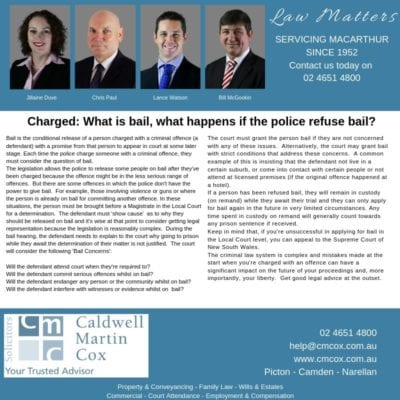Charged: What is bail, what happens if the police refuse bail?