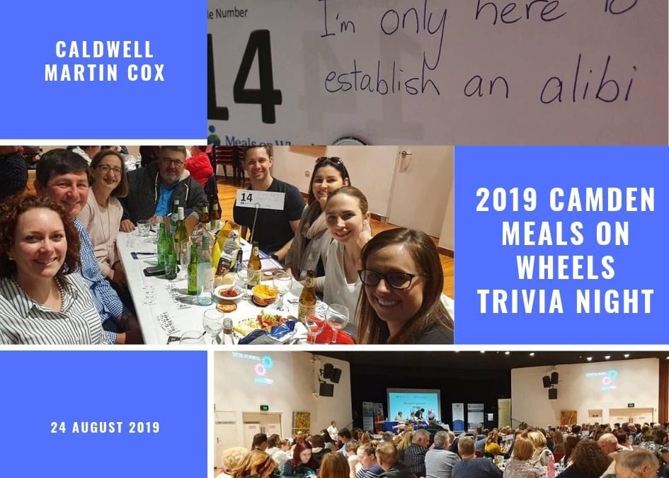 2019 Camden Meals on Wheels Trivia Night