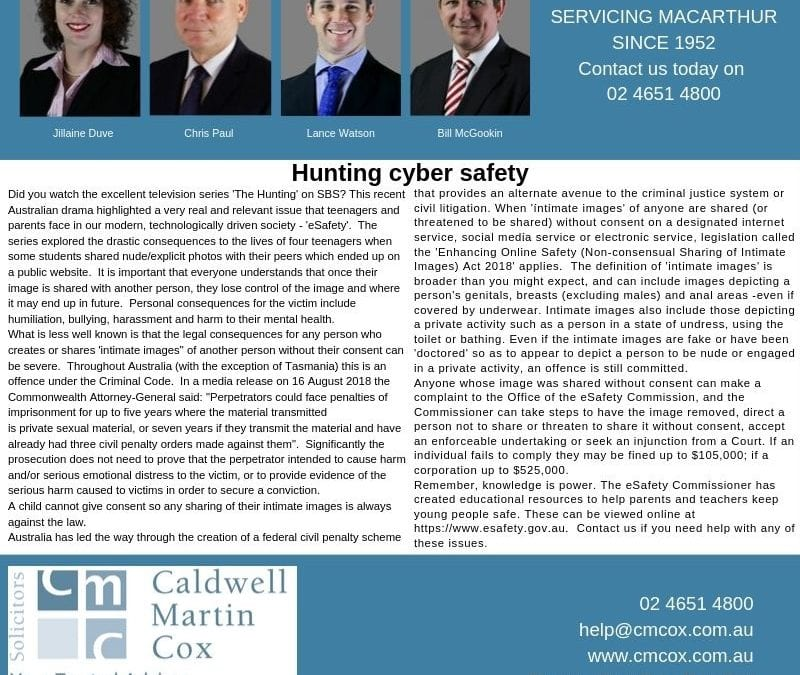 Hunting cyber safety