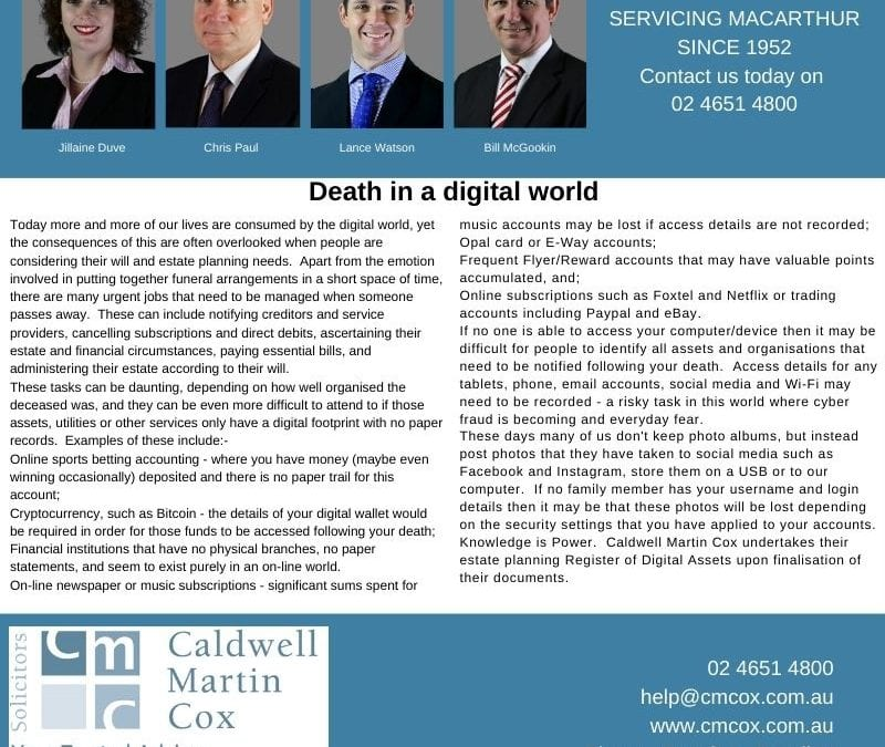 Death in a digital world
