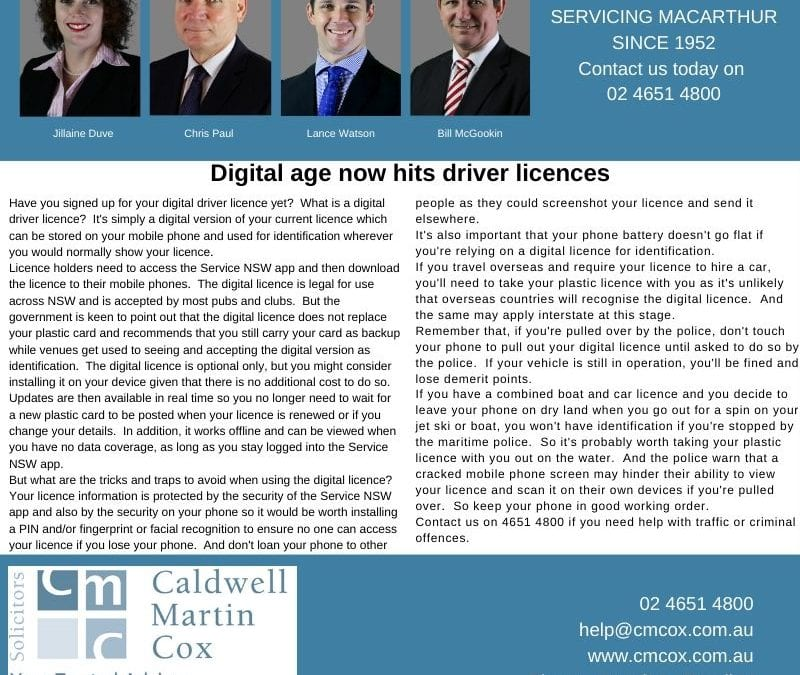 Digital age now hits driver licences