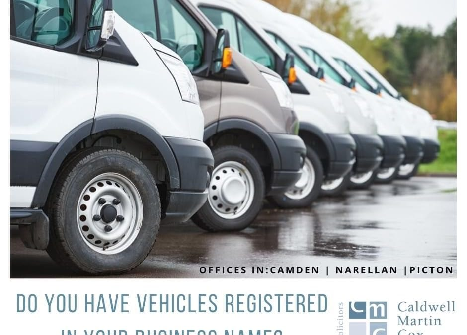 Do you have vehicles registered in your business name?